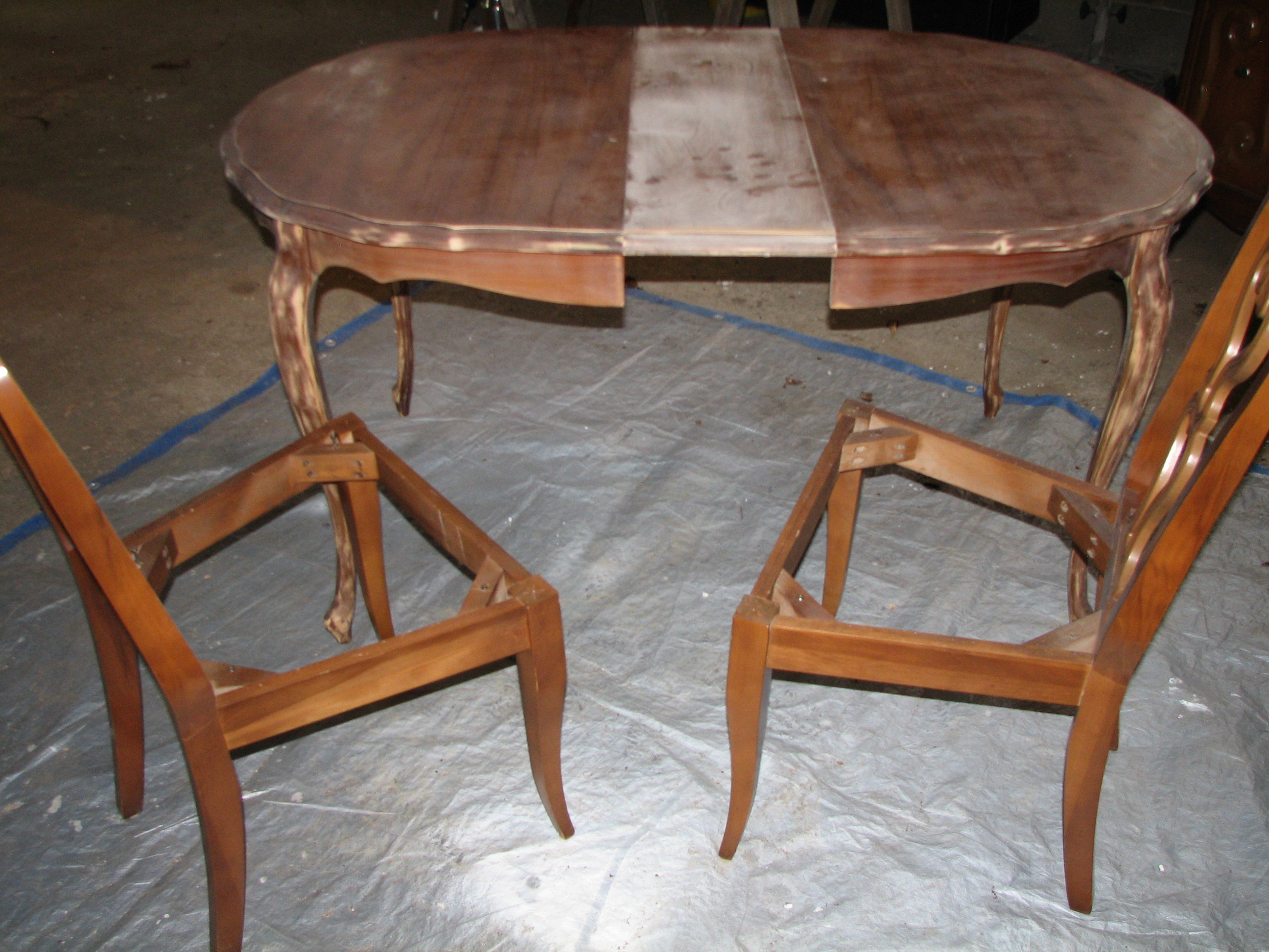 Revitalizing an Antique Dining Room Set- Part 3 – FunCycled
