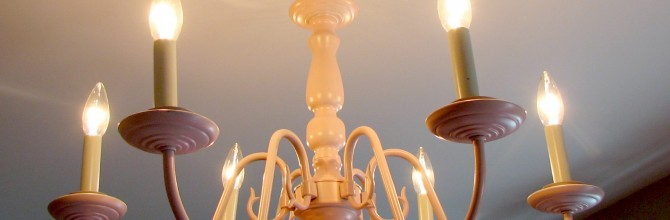 How to Repaint a Chandelier