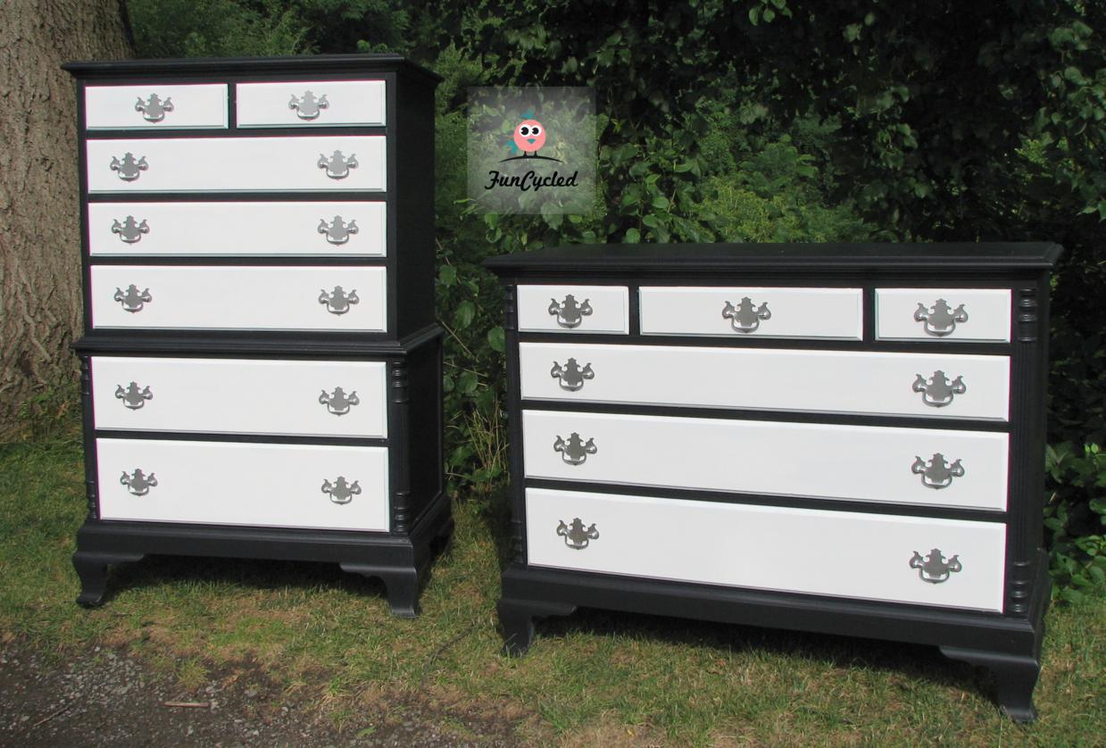 glamorous black and white dresser set – funcycled - have