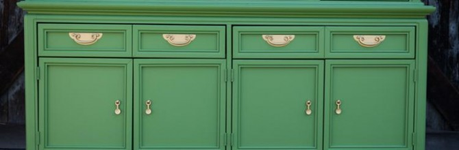 Hollywood Regency Green Hutch For Sale – Tuesday's Treasures