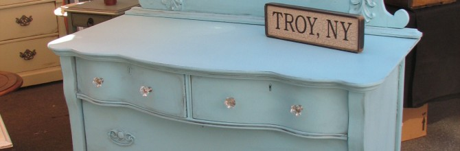 Tuesday's Treasures Aqua Dresser with Mirror