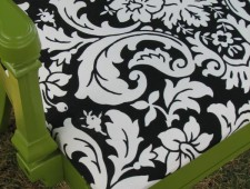 Tuesday's Treasures- Eden Green Damask Chair