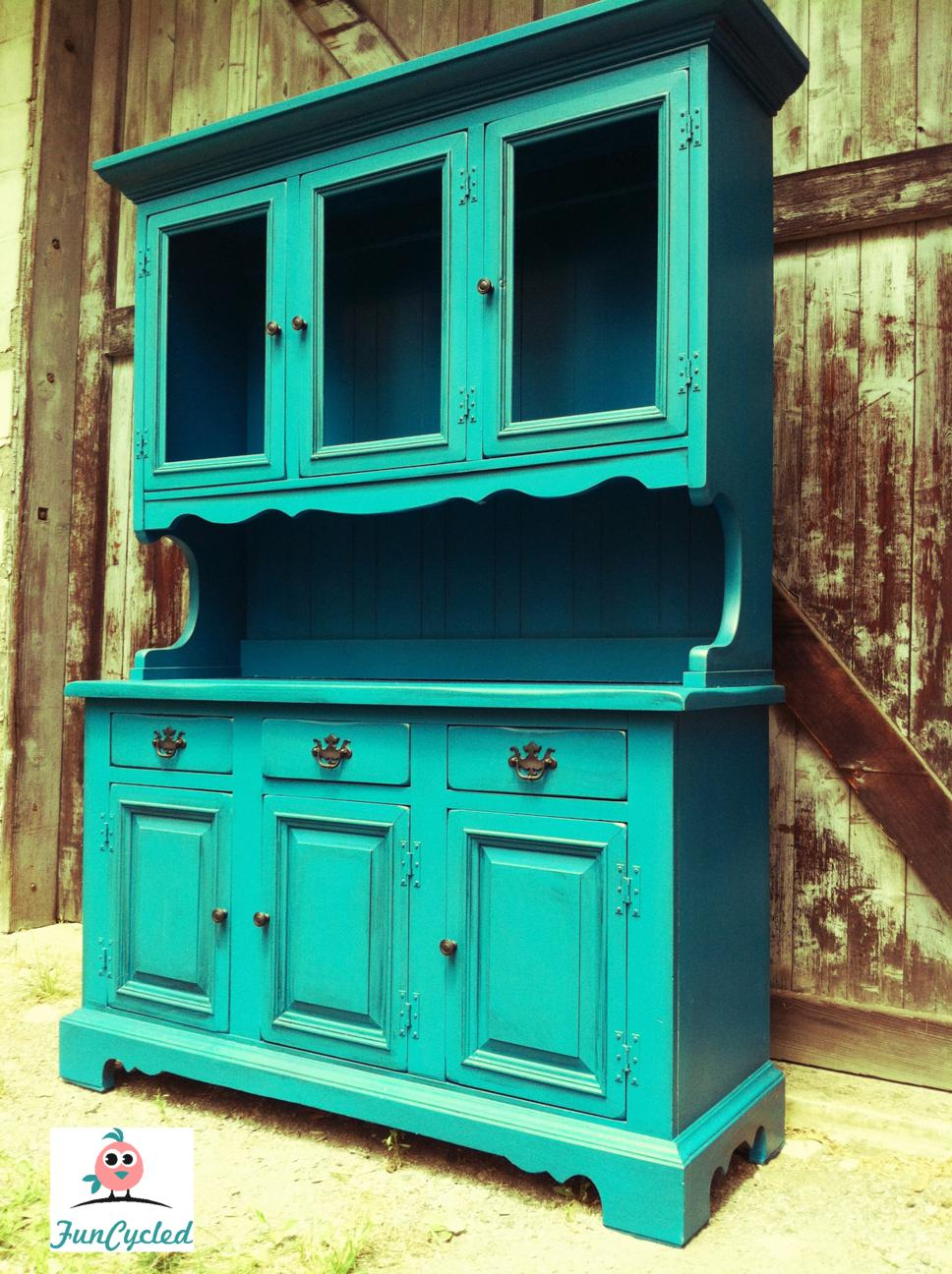 Tuesday S Treasures Vintage Teal Hutch And Red French