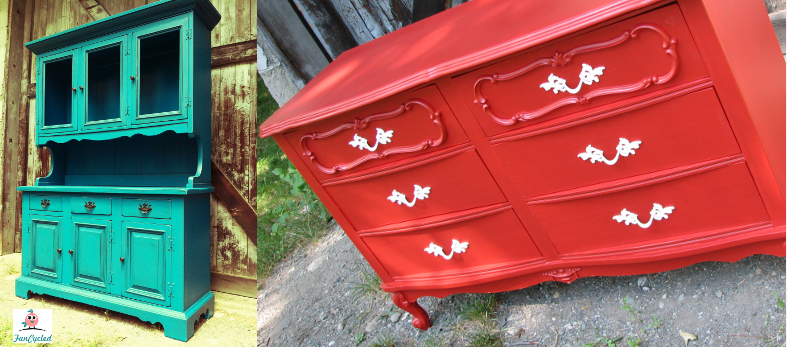 Tuesday\'s Treasures – Vintage Teal Hutch and Red French ...