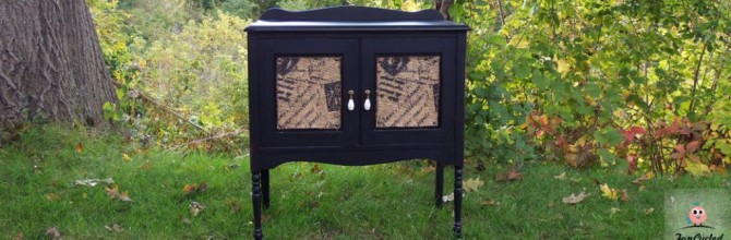 Burlap Cabinet – Tuesday's Treasures