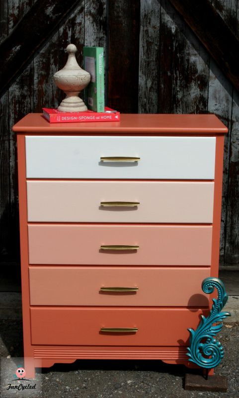 How to Paint an Ombre Dresser