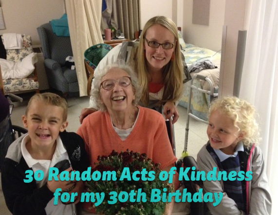 30 Random Acts of Kindness for My 30th Birthday