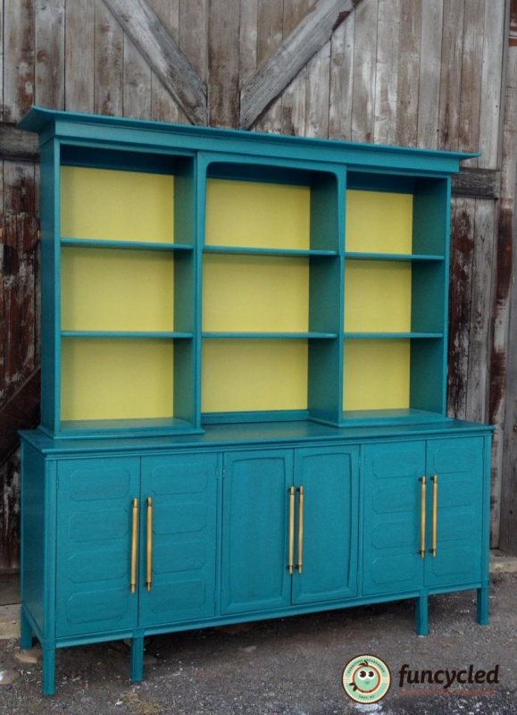 century kitchen cabinets teal mid century modern buffet funcycled 2056