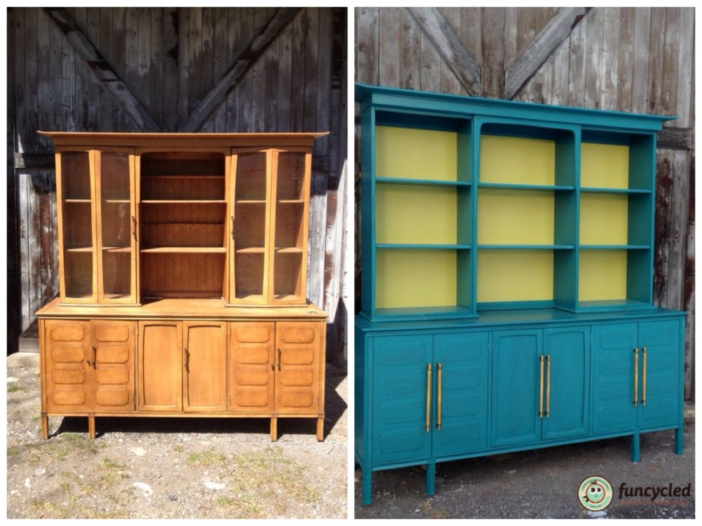 Picture of: Teal Mid Century Modern Buffet Funcycled