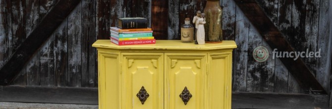 Yellow Hall Cabinet – Tuesday's Treasures