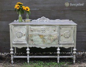 Antique Pewter Map Buffet
