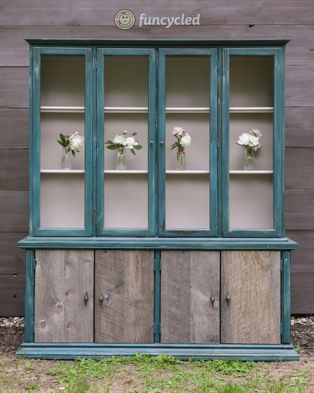 Rustic Teal Hutch