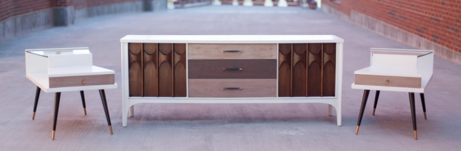 Adding Modern to a Mid Century Dresser Set – Tuesday's Treasures