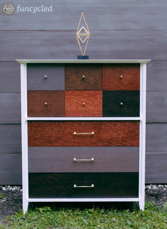 Mid Century Patchwork Dresser