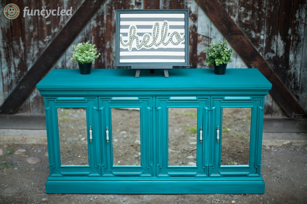 Vintage Teal Buffet
