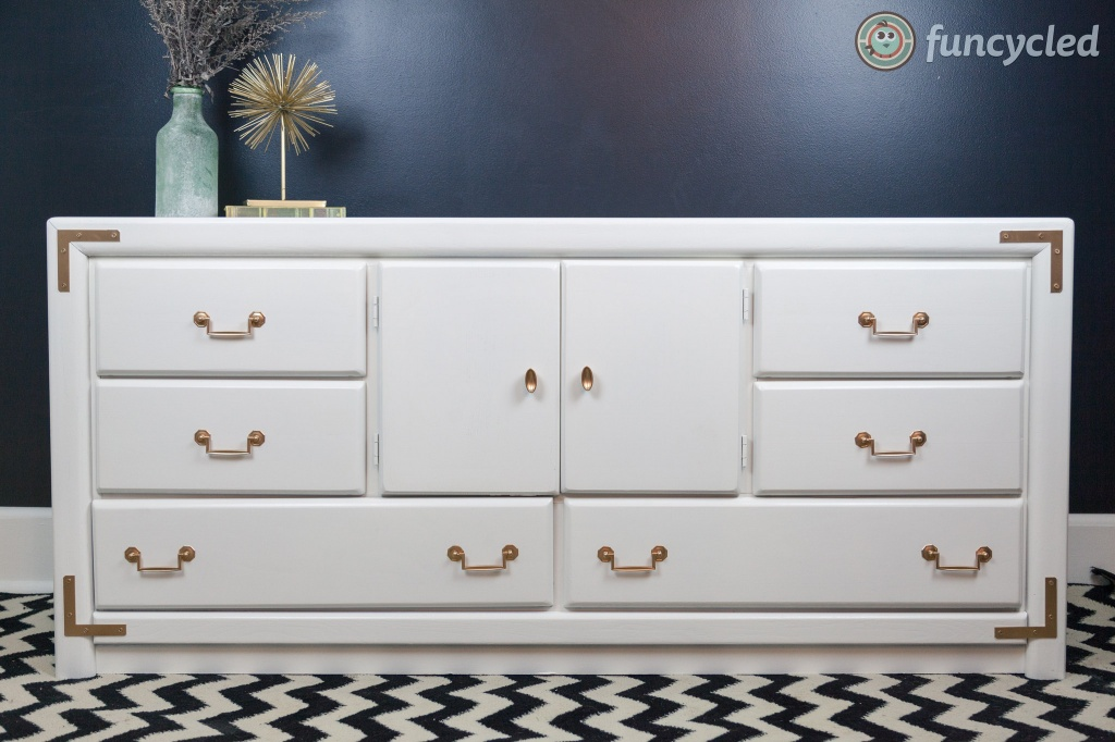 White Campaign Dresser