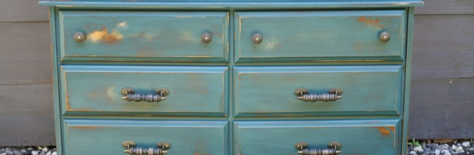 Two Teal Hutch Makeovers – Tuesday's Treasures