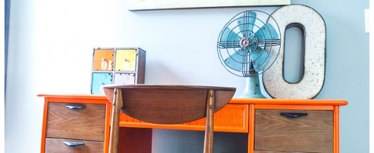 Orange and Blue Boy's Room Makeover – Tuesday's Treasures