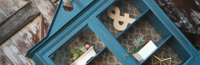 Vintage Teal Hutch – Tuesday's Treasures