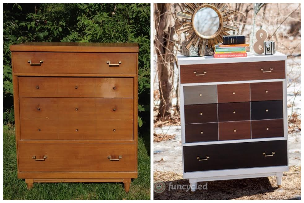Patchwork Dresser by FunCycled