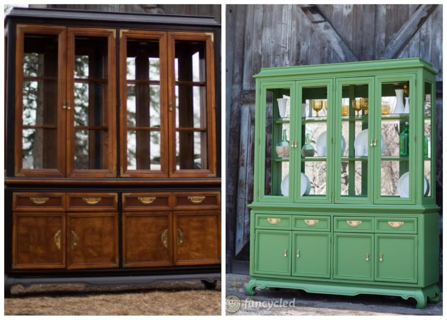 Hollywood Regency Green Hutch by FunCycled