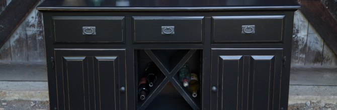 Turning a Buffet into a Wine Storage Cabinet – Tuesday's Treasures