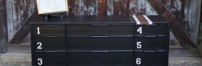 Black Mid-Century Number Dresser – Tuesday's Treasures