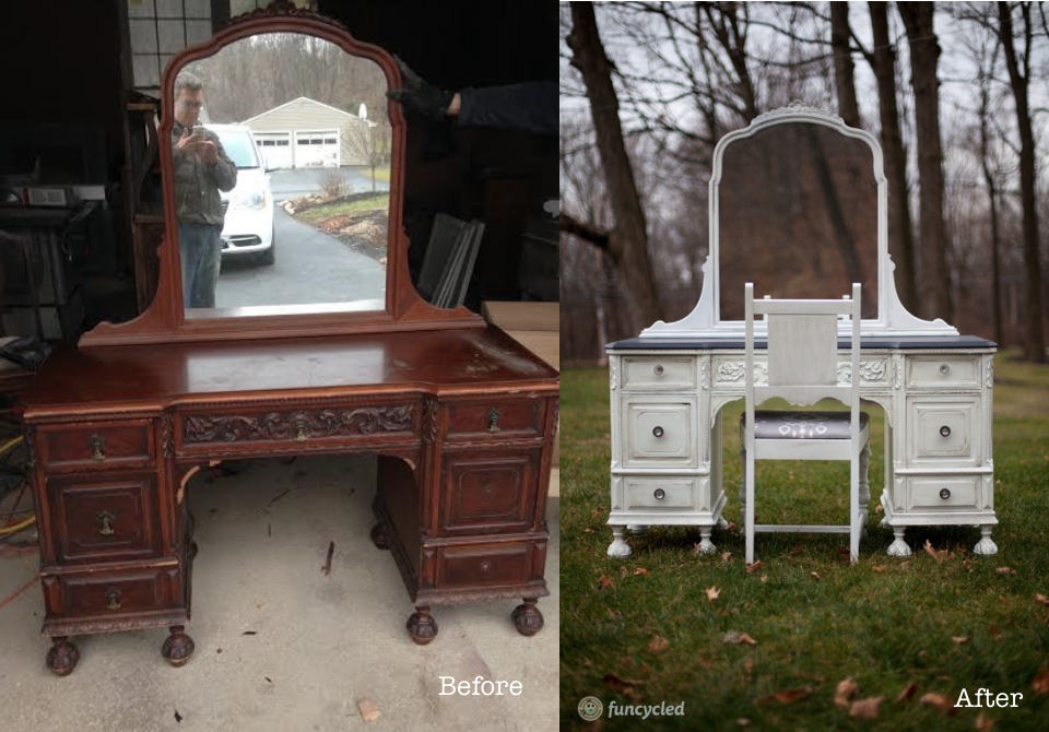 Antique Painted Vanity Furniture - Antique Painted Vanity - Vanity Ideas