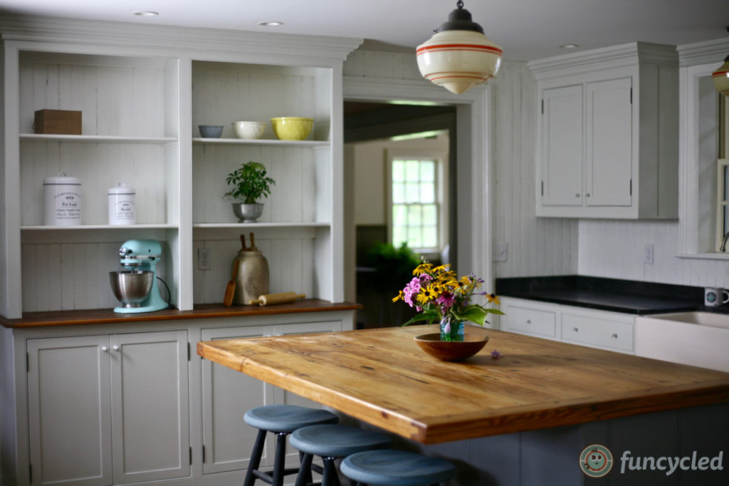 Light Gray Kitchen With Dark Gray Island Funcycled