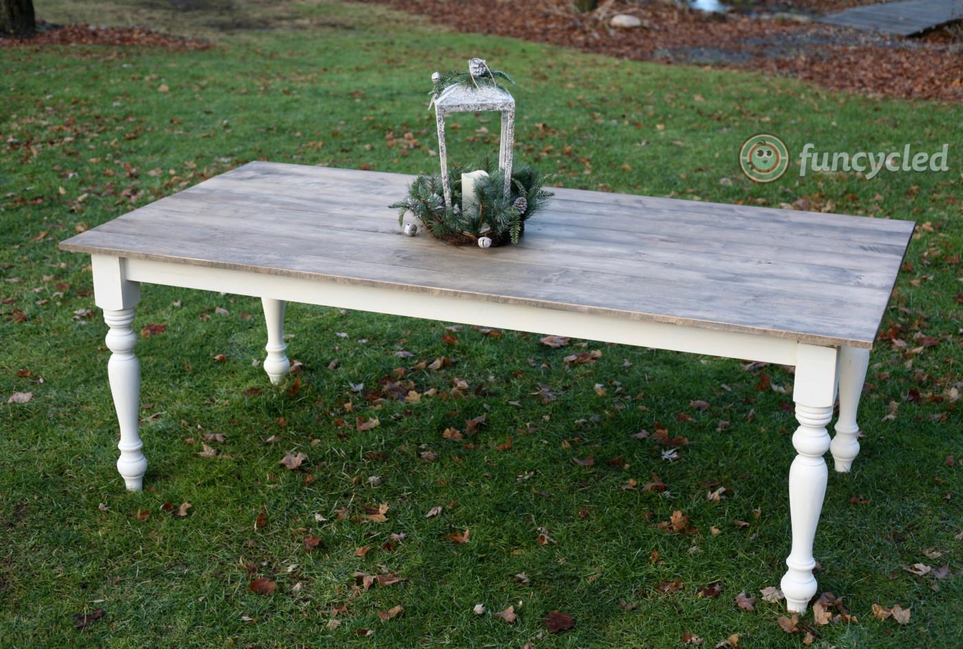 Turned Legs Farm House Table U2013 Custom Order