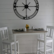 Shiplap Wall and Pub Table Set