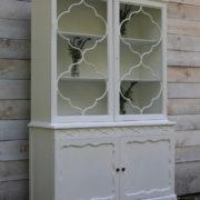White Ornate Hutch