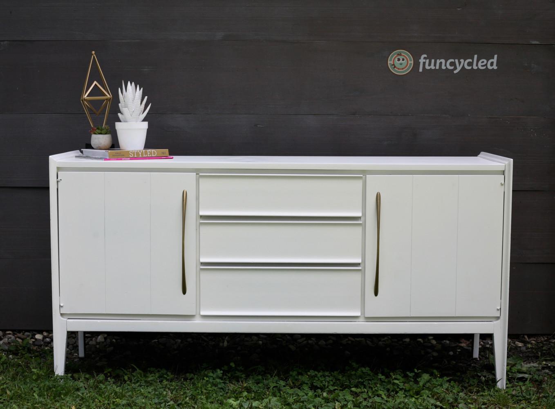 White Mid Century Dresser ...