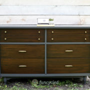 Gray Mid Century Dresser