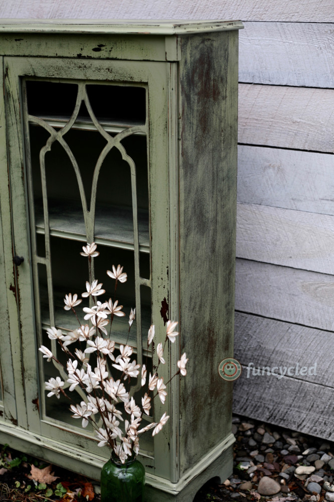 Sage Distressed Cabinet Funcycled