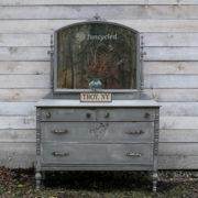 Medium Gray Distressed Dresser