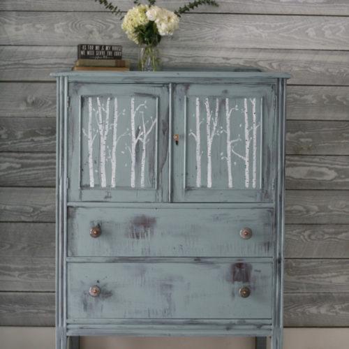 Blue Birch Tree Dresser