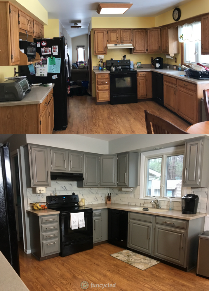 Oak Kitchen Cabinets Painted Chelsea Gray