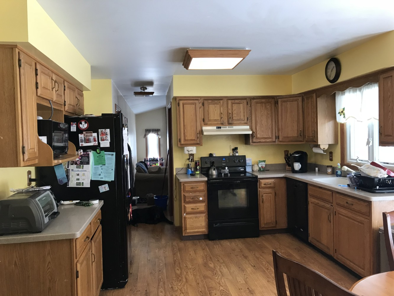 We Decided To Go With A Medium Gray On The Cabinets And Lighten Up Walls Lighter Then They Added New Backsplash Which I Think Helped This