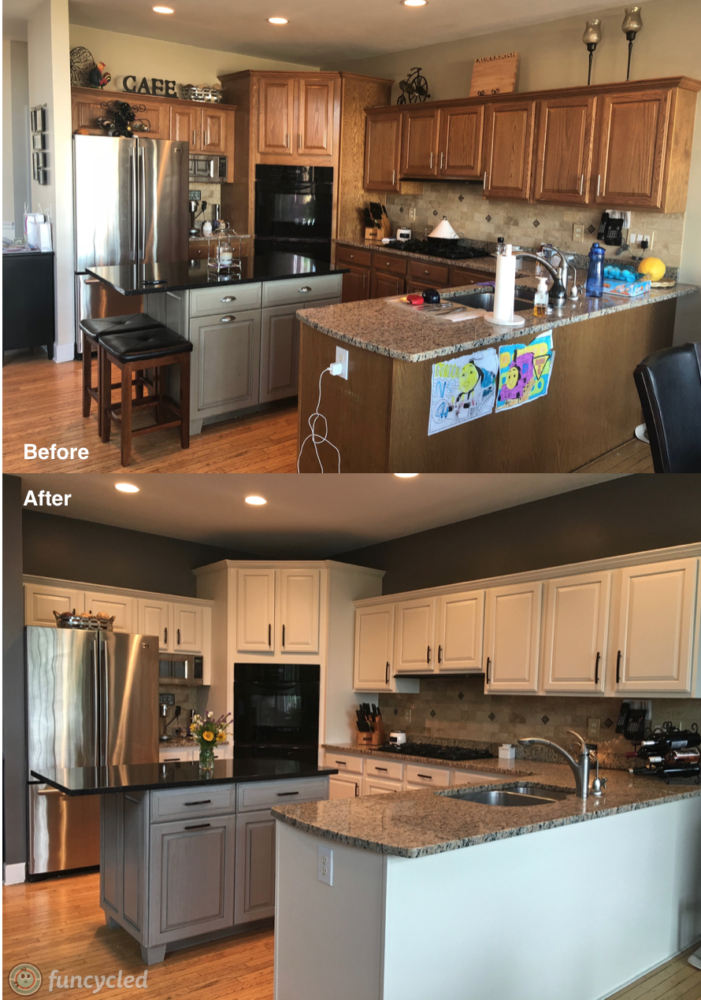 Kitchen Makeover Using Ballet White By, Black Walls White Kitchen Cabinets