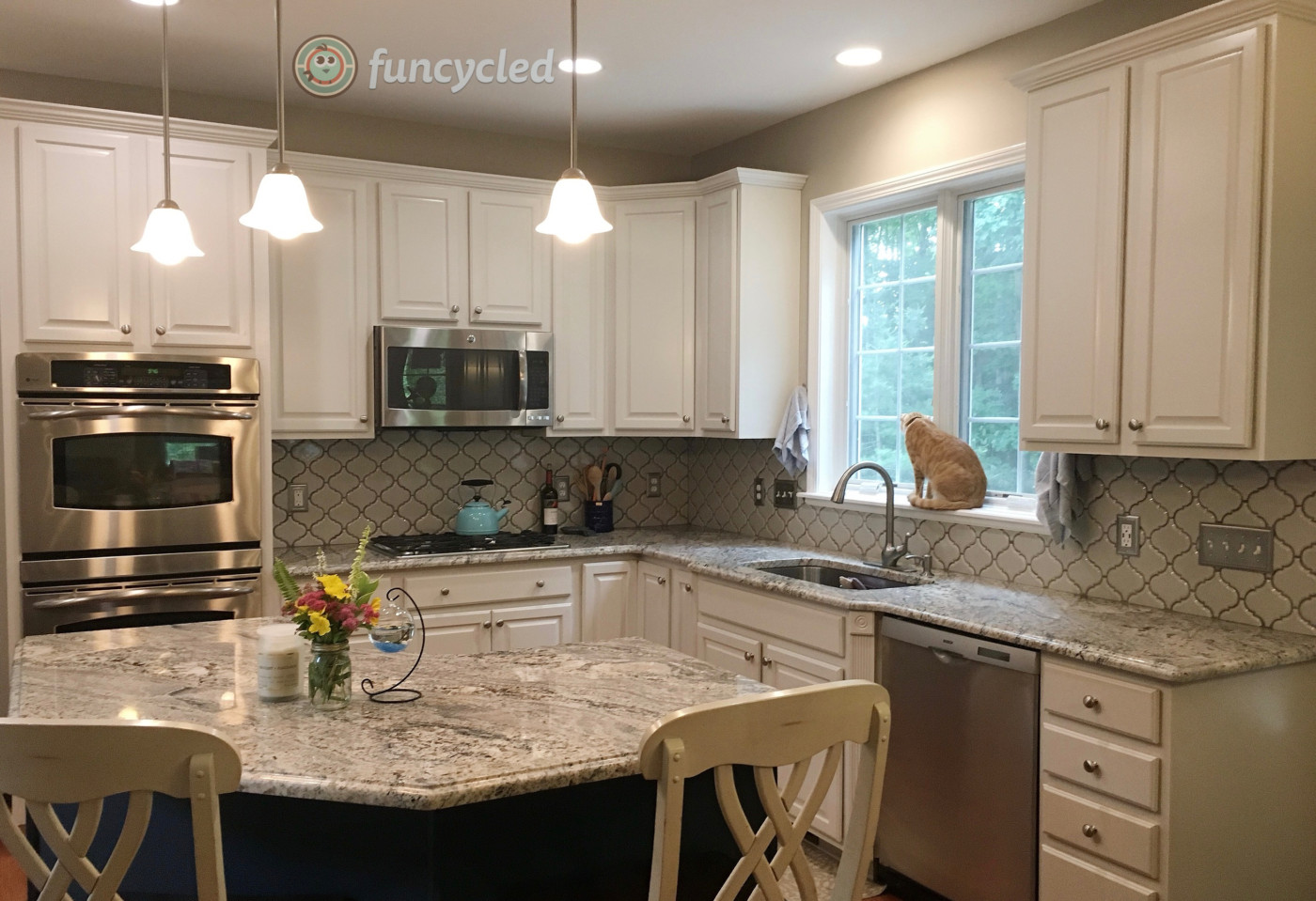 Kitchen Cabinets Painted Pale Oak And Gentleman S Gray