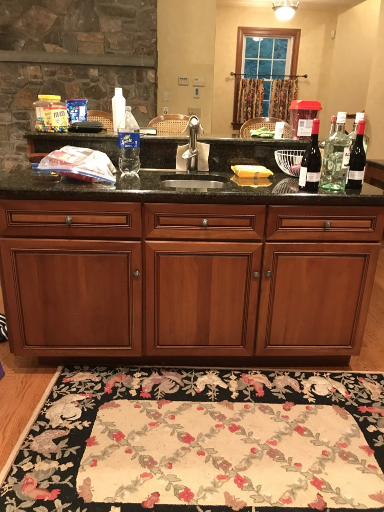 Gray Distressed Kitchen Cabinets - FunCycled