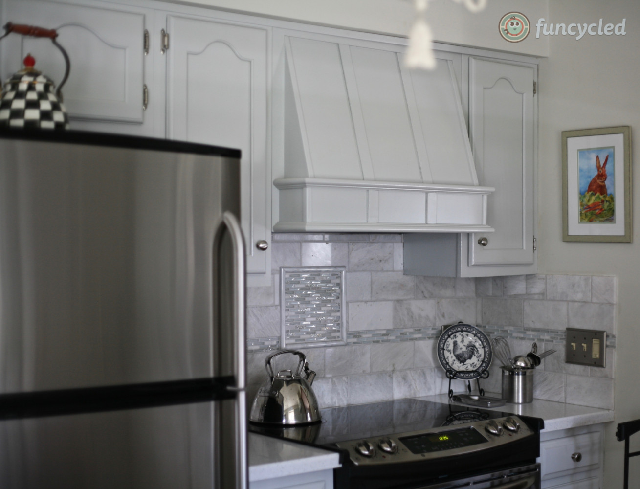 Kitchen Cabinet Painted Cliffside Gray Tuesday S Treasures Funcycled